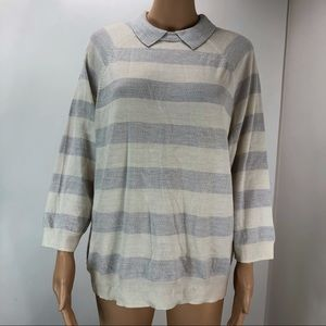 J. Crew XL nude light weight sweater with collar